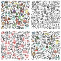 feliz eid mubarak doodle