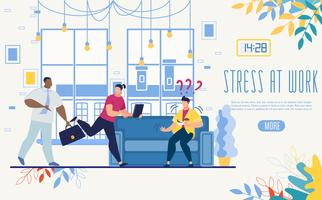 Controlling Stress at Work Startup Website vector