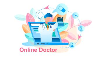 Online Doctor Treatment Consultation vector