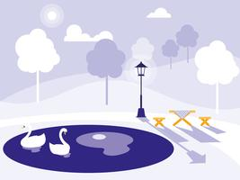 scene park isolated  vector