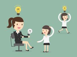 Mujeres de negocios que comparten ideas vector