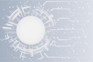 Grey white Abstract technology Circles background