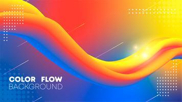 Ilustración de fondo de vector de flujo de color