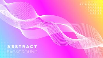 Pink wave abstract background