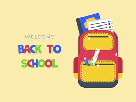 Back to school poster template