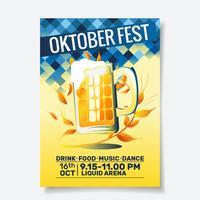 Flyer fiesta Oktoberfest vector