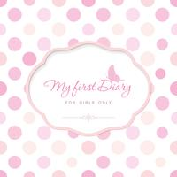 Cute template for notebook cover for girls