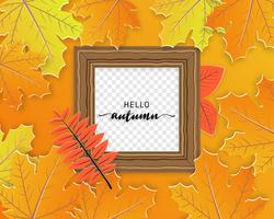 Picture Frame With Autumn Leaves