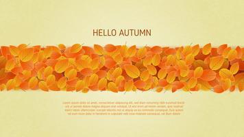 Feuilles d'automne fond en papier coupé style