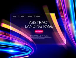 Abstract Cyberpunk Landing Page