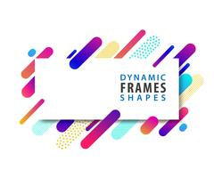 Abstract rectangle frames with dynamic shape template. vector
