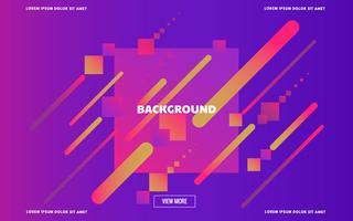 Landing page moderne abstrait géométrique