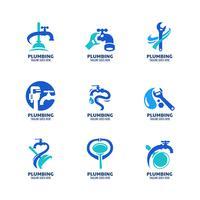 Plantilla de logotipo de plomería moderna