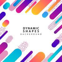 moderne dynamische vorm en patroonachtergrond