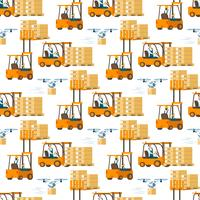 Forklift Car Full of Box Pattern