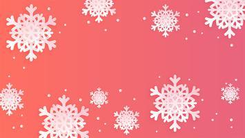 Fondo de copos de nieve