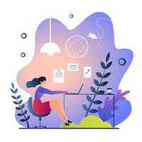 Working Remote in Nature  vector