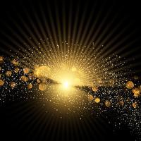 Gouden starburst en glitter achtergrond
