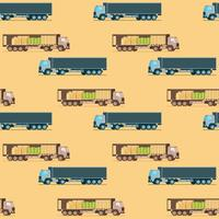 Storage Weight Delivery Truck Seamless Pattern