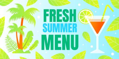 Fresh Summer Menu Banner