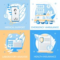 Informational Medical Support Flyer vector
