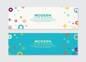 Set of modern abstract shape banners