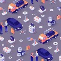 Muster für den Autoreparaturservice