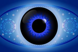 digital eye communication concept for technology background
