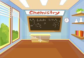 Escuela de clase de química.