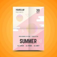 Geometric Summer party poster