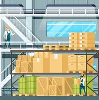 Warehouse Interior with Freights