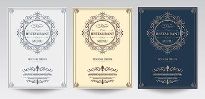 Restaurant Front cover menu template.