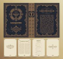 Vintage book layout vector