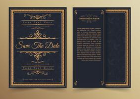 Save the date invitation card template.