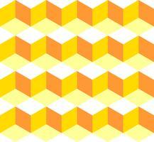 Progettazione senza cuciture dell'illustrazione del fondo delle mattonelle della scatola gialla del modello. Vector EPS 10.