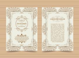 Vintage Invitation card  vector