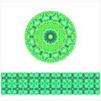 Round Geometric Seamless Pattern