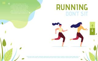 Don't Sit Running Motivational Landing Page