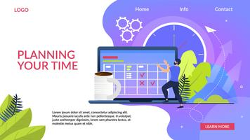 Planning Your Time Banner vector