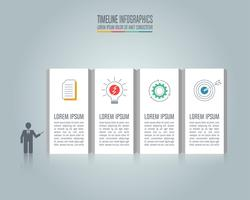 Presentation Infographic business concept with 4 options.