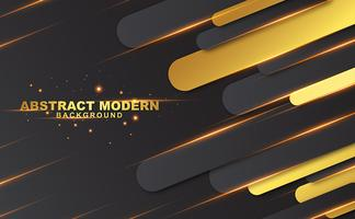 Abstract black and gold background vector