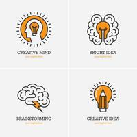Conjunto de iconos de ideas creativas