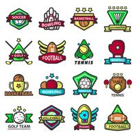 Sport games icons templates