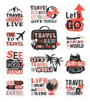 Reizen motivatie icon set