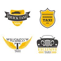Conjunto de crachá de táxi
