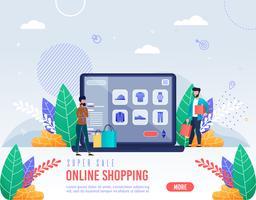 Poster inscriptie Super verkoop online winkelen
