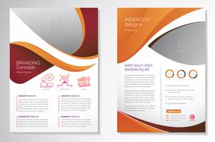 Template design for Brochure Annual Report