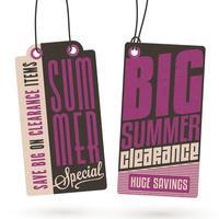 Sommerschlussverkauf hängen Tags