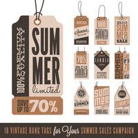 Sommarförsäljningen hänger taggar