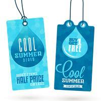 Etiquetas colgantes de ventas de verano